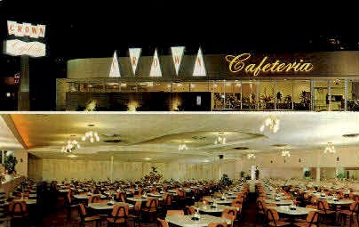 Crown Cafeteria - MIsc, California CA Postcard