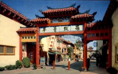 Old China - Los Angeles, California CA Postcard