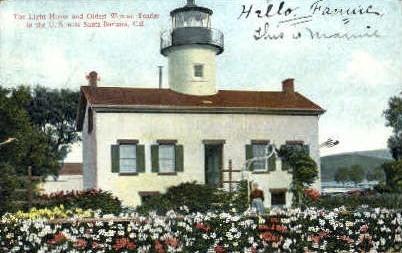 The Light House - Santa Barbara, California CA Postcard