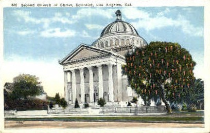 Second Church of Christ, Scientist - Los Angeles, California CA Postcard