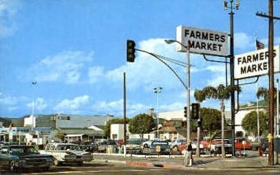 Farmer's Market - Los Angeles, California CA Postcard
