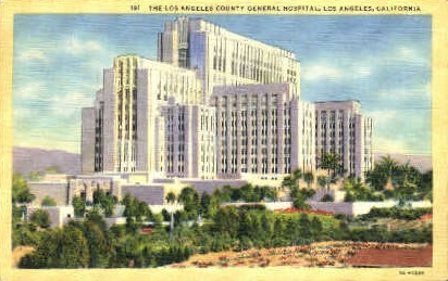 County General Hospital - Los Angeles, California CA Postcard