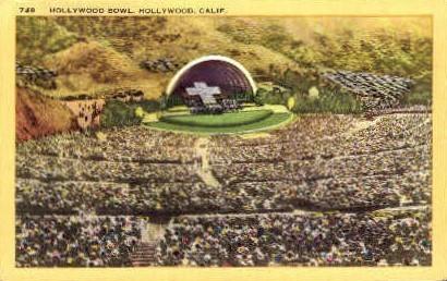 Hollywood Bowl - California CA Postcard
