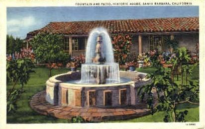 Adobe - Santa Barbara, California CA Postcard