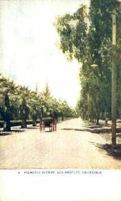 Palmetto Avenue - Los Angeles, California CA Postcard