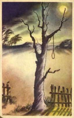 Hangmans Tree - Buena Park, California CA Postcard