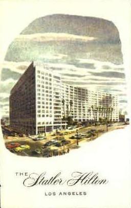 The Statler Hilton - Los Angeles, California CA Postcard