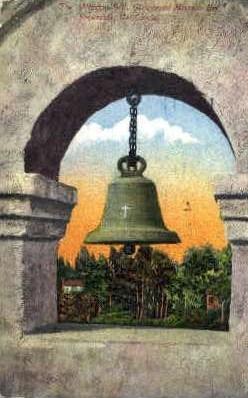 The Mission Bell, Glenwood Mission Inn - Riverside, California CA Postcard