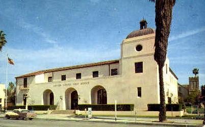 Post Office - Riverside, California CA Postcard