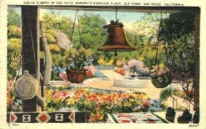 The Patio, Ramonas Marriage Place - San Diego, California CA Postcard