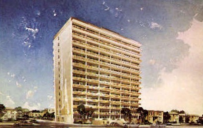 Luther Tower - San Diego, California CA Postcard
