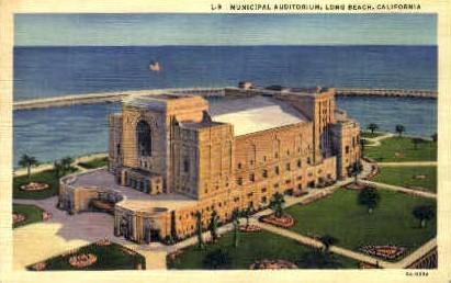 Municipal Auditorium - Long Beach, California CA Postcard