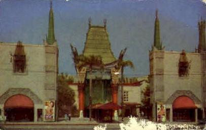 Graumans Chinese Theatre - Hollywood, California CA Postcard