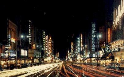 Sixth and Broadway - Los Angeles, California CA Postcard