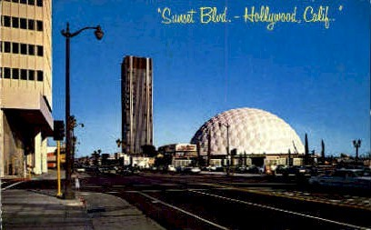 Sunset Blvd. - Hollywood, California CA Postcard