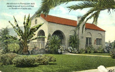 Bungalow - MIsc, California CA Postcard
