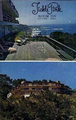 Tickle Pink Motor Inn - Carmel by the Sea, California CA Postcard