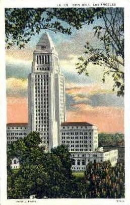 City Hall - Los Angeles, California CA Postcard