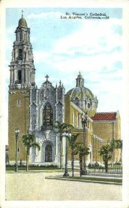St. Vincents Cathedral - Los Angeles, California CA Postcard