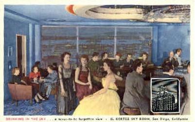 El Cortez Sky Room - San Diego, California CA Postcard
