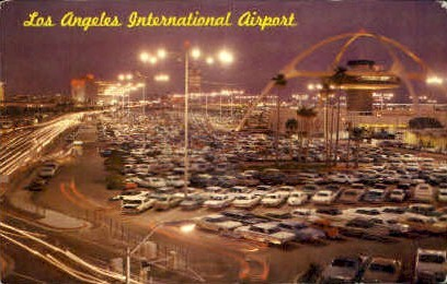 L.A. International Airport - Los Angeles, California CA Postcard
