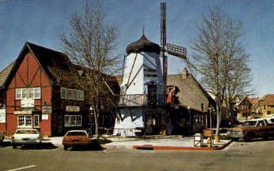 Hamlet Square - Solvang, California CA Postcard