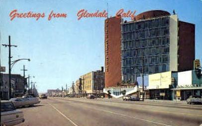 Greetings From - Glendale, California CA Postcard