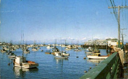 Fishing Dock - Monterey, California CA Postcard