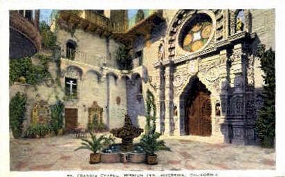 St. Francis Chapel, Mission Inn - Riverside, California CA Postcard