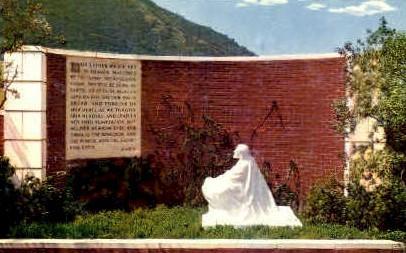 Garden of Prayer, Church of the Hills - Los Angeles, California CA Postcard