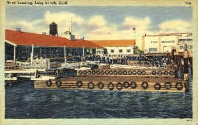 Navy Landing - Long Beach, California CA Postcard