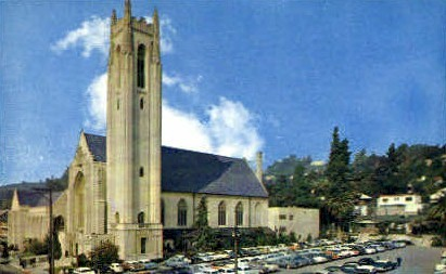 1st Methodist Church - Hollywood, California CA Postcard