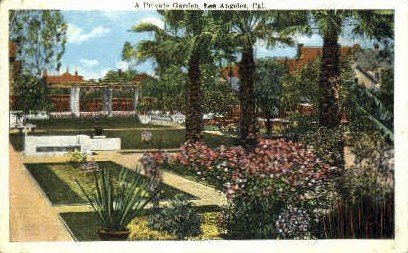 A Private Garden - Los Angeles, California CA Postcard