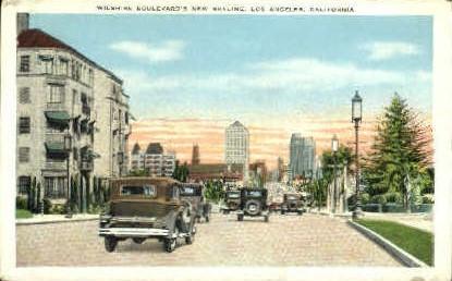 Wilshire Blvd. - Los Angeles, California CA Postcard