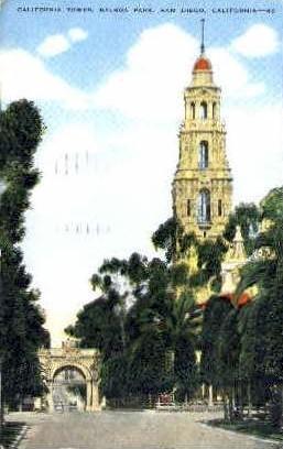California Tower, Balboa Park - San Diego Postcard