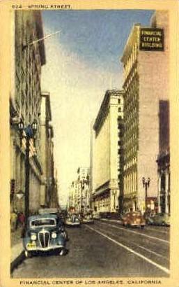 Financial Center - Los Angeles, California CA Postcard