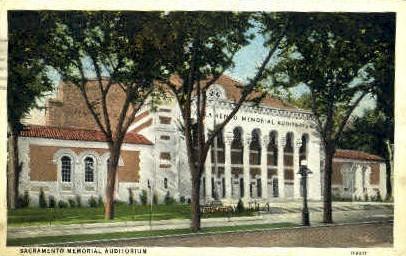 Memorial Auditorium - Sacramento, California CA Postcard