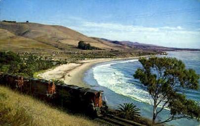North Bound Coastline Freight - Santa Barbara, California CA Postcard