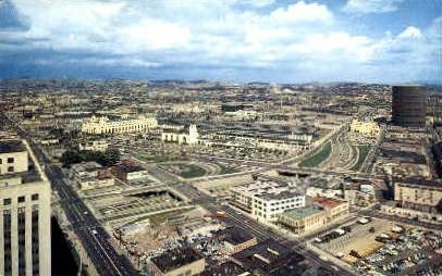 View - Los Angeles, California CA Postcard