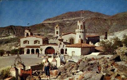 Death Valleys Scottys Castle - California CA Postcard