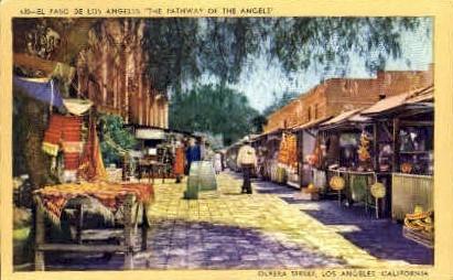 Olivera Street - Los Angeles, California CA Postcard