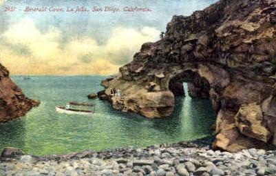 Emerald Cove - La Jolla, California CA Postcard
