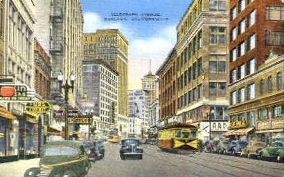 Telegraph Ave. - Oakland, California CA Postcard