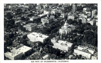 Air View - Sacramento, California CA Postcard