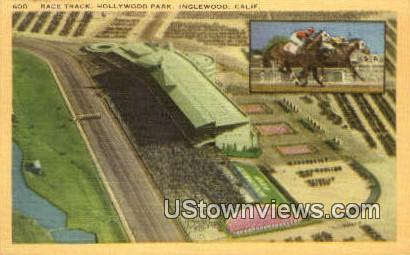 Race Track, Hollywood Park - Pasadena, California CA Postcard