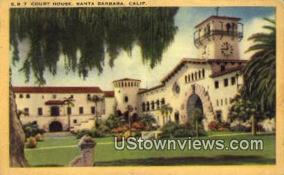 Court House - Santa Barbara, California CA Postcard