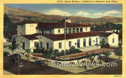 Post Office - Santa Barbara, California CA Postcard