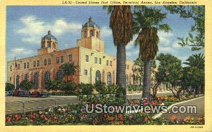 US Post Office - Los Angeles, California CA Postcard