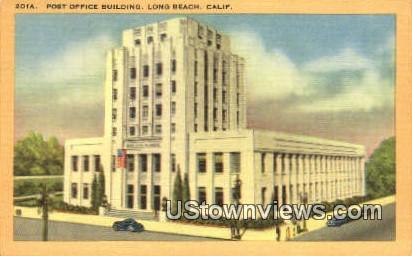 Post Office - Long Beach, California CA Postcard