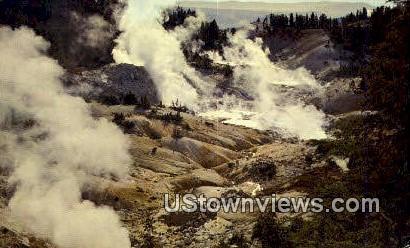 Bumpass Hell - Lassen Volcanic National Park, California CA Postcard